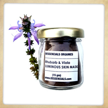 Rhubarb,and,Viola,Luminous,SKIN,MASK,Acne mask, herbal acne treatment, viola mask