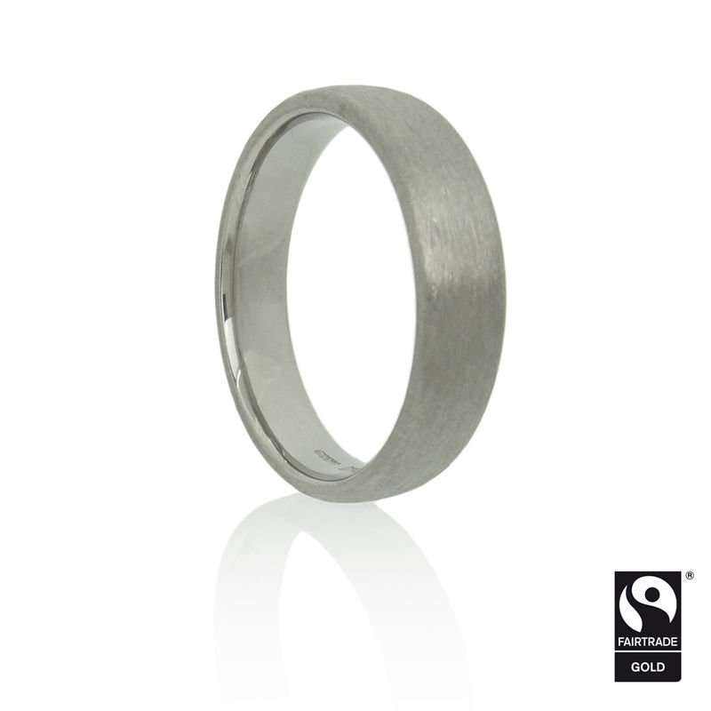 Fairtrade Gold<br>Flat Court Band with Brushed Finish<br> - <i> commission only </i> - - product images  of