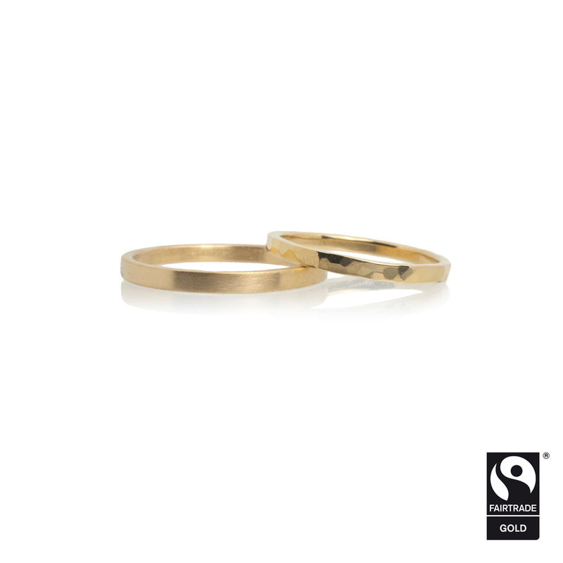 18k yellow Fairtrade gold wedding bands <br> - commission only - - product images