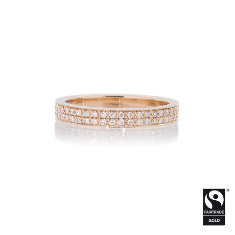 Double,row,micropave,eternity,ring,-,commission,only,Fairtrade Gold, hand-alloyed, handmade, bespoke, unique