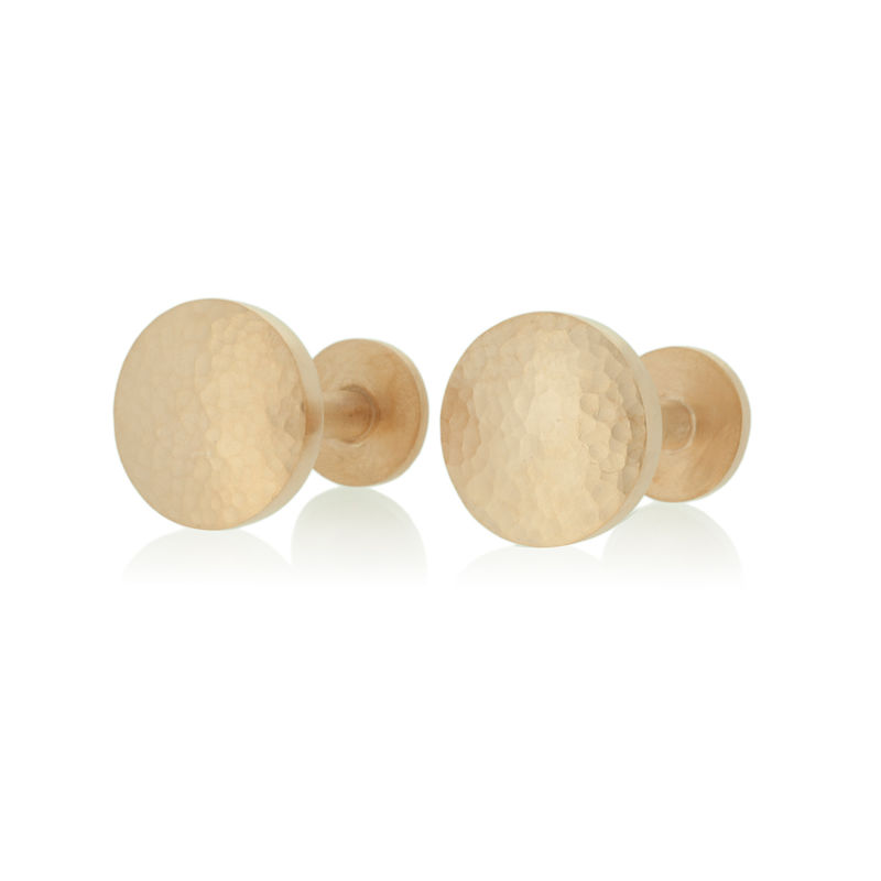 Hammered cufflinks <br> - <i> commission only </i> - product images  of