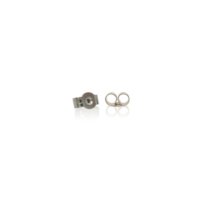 mini 'xx' earrings - 18k White Fairtrade gold with diamonds - product images  of