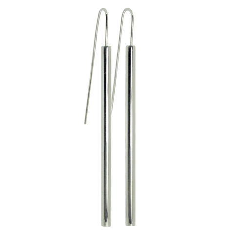 Straight,Pipette,earrings,Earrings, Sterling Silver, Contemporary Jewellery
