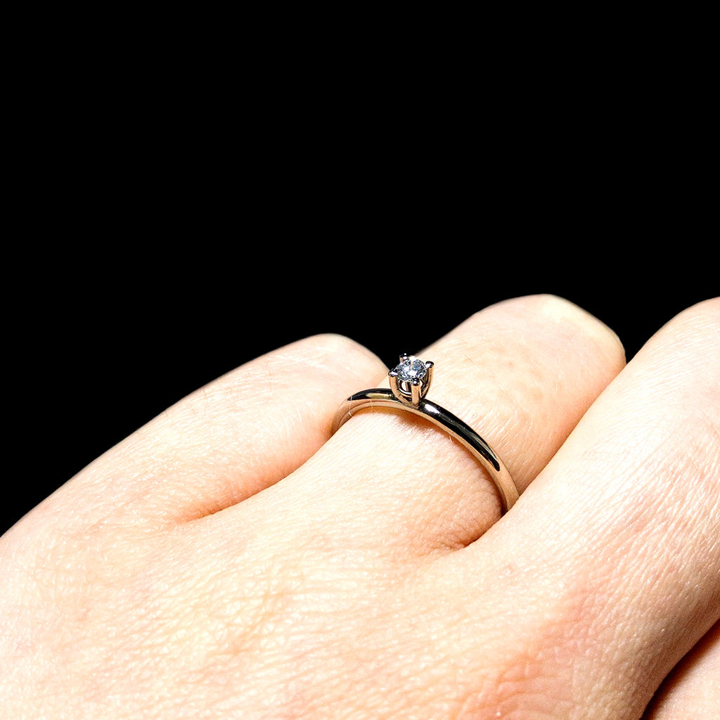 Solitär Ring - Diamant - classic - three - product images  of