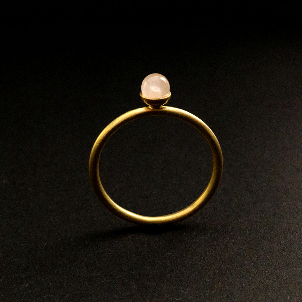 Konfetti Ring - Rosenquarz - pastell rosa - product images  of