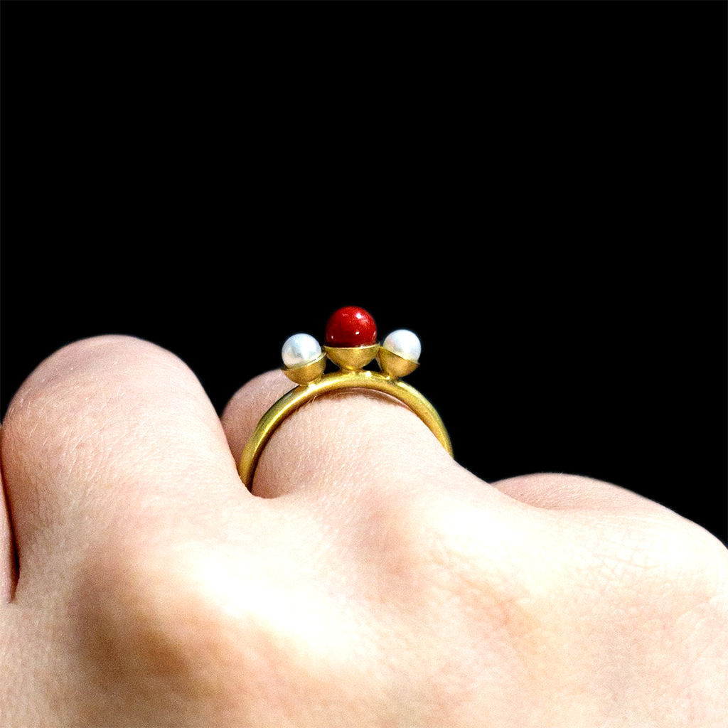 Konfetti Ring - Koralle - Perle - product images  of