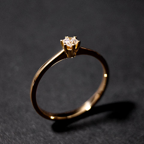 Solitär,Ring,-,Diamant,classic,one,Verlobungsring, Solitär, Diamant Ring, Verlobung, Antrag, Schmuck, Regensburg, Goldschmiede, engagement, ring