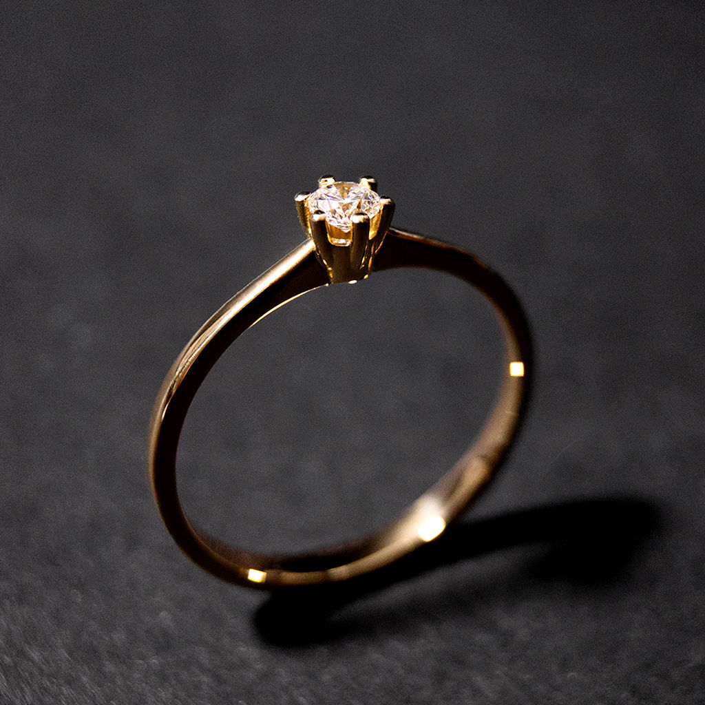 Solitär Ring - Diamant - classic - one - product images  of