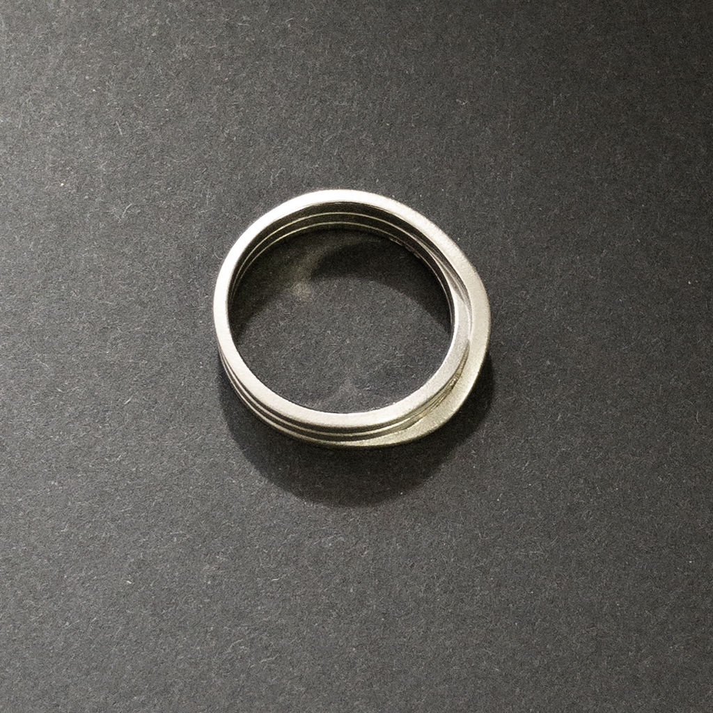 ring - endloses Band - 3-fach - 1,5 - weiß - product images  of