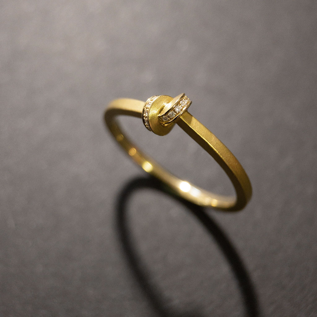 ring - Knoten - 1,5 - mit Diamanten - product images  of