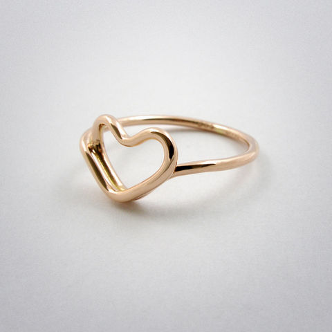 ring,-,cœur,pink,gold, Herz, heart, coeur, 585, rot, pour toi, gold
