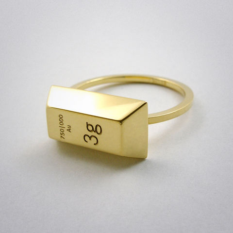 ring,-,3g,Gold,Ring, 750, Gold, gelb, Barren, Weight