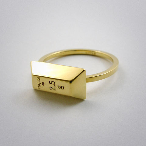 ring,-,2,5g,Gold,Ring, 750, Gold, gelb, Barren, Weight