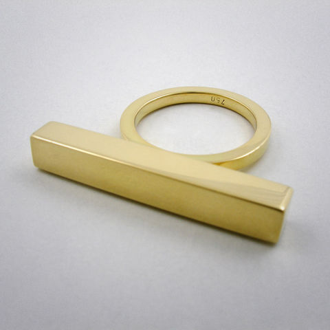 ring,-,straight,one,au,Ring, 750er Gelbgold, straight