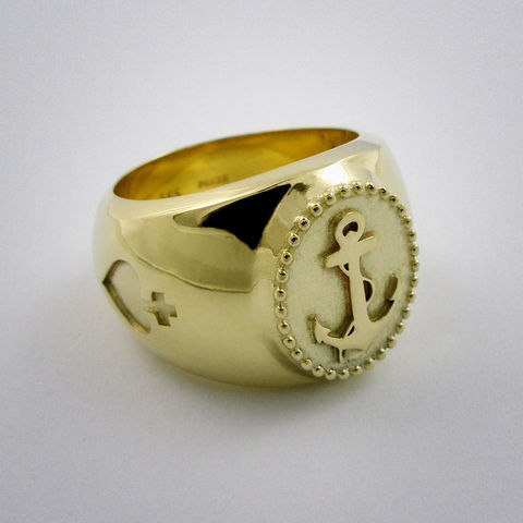 ring,-,Sailor,Boy,Gold, Sailor, Anker, 585, boy, gelb, Gold, AU