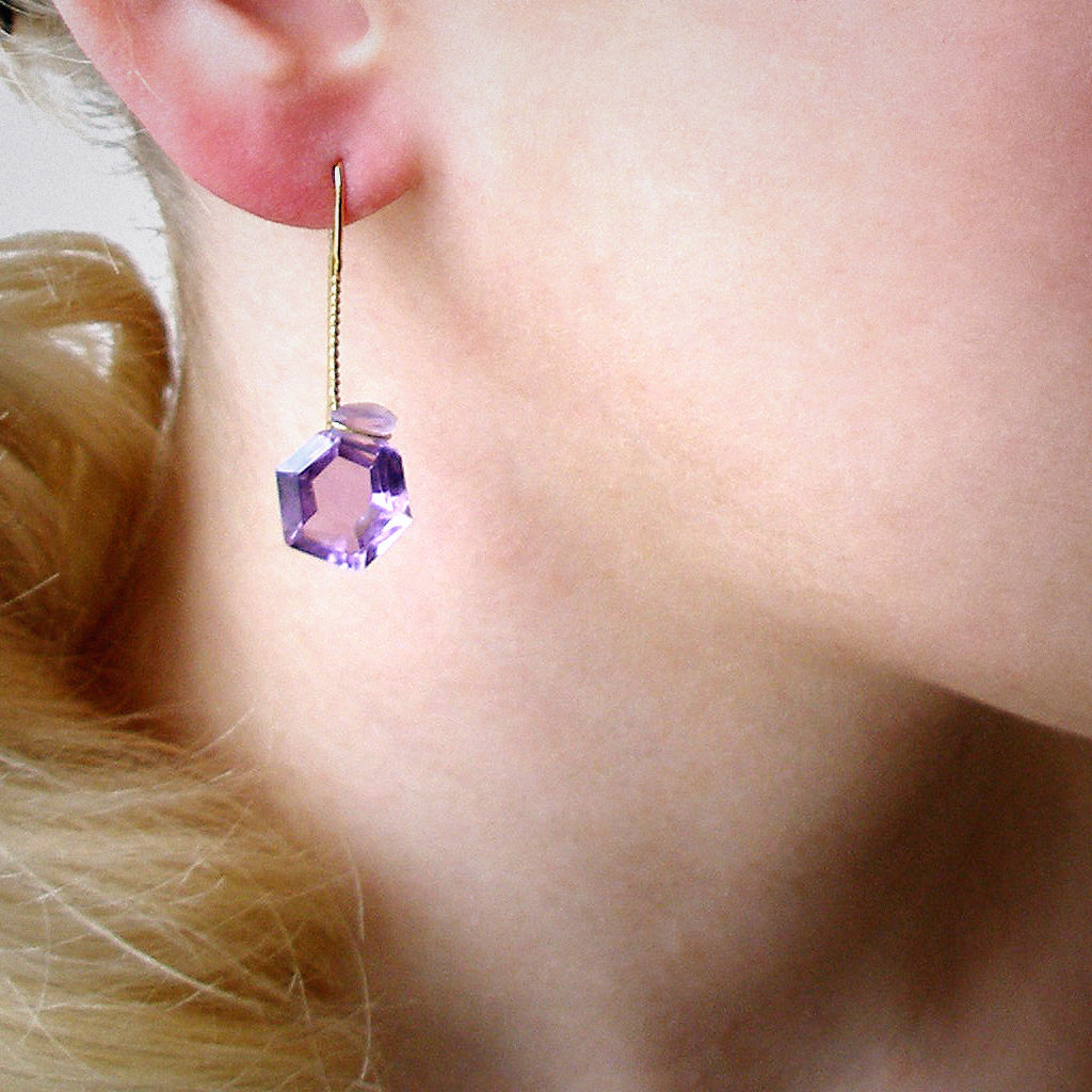 ear pendant - Stein - Amethyst - product images  of