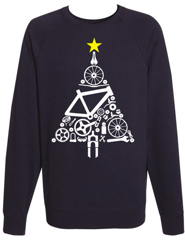 PHASE9,-,CHRISTMAS,TREE,JUMPER,SWEATSHIRT,Phase9, Tshirt, MTB, Mountain Biking, Cycling, Road, Sweatshirt, christmas, xmas, jumper