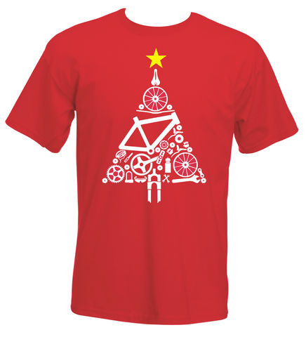 PHASE9,-,CHRISTMAS,TREE,MEN'S,T-SHIRT,Phase9, Tshirt, MTB, Mountain Biking, Cycling, Road, Xmas, Christmas, Jumper