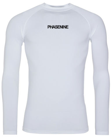 PHASE9,-,ARTIC,WHITE,LONG,SLEEVE,BASE,LAYER,Phase nine, Phase9, Cycling, MTB, biking, Base Layer