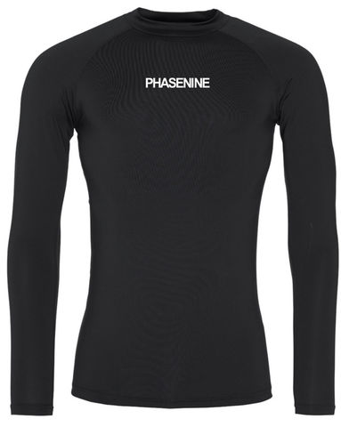 PHASE9,-,JET,BLACK,LONG,SLEEVE,BASE,LAYER,Phase nine, Phase9, Cycling, MTB, biking, Base Layer