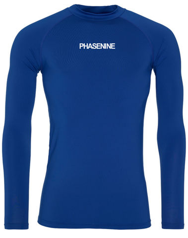 PHASE9,-,ROYAL,BLUE,LONG,SLEEVE,BASE,LAYER,Phase nine, Phase9, Cycling, MTB, biking, Base Layer