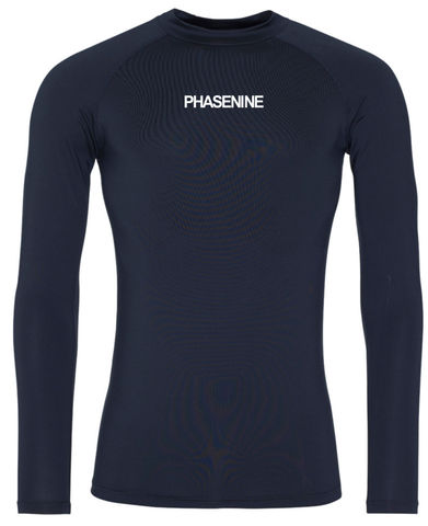 PHASE9,-,FRENCH,NAVY,LONG,SLEEVE,BASE,LAYER,Phase nine, Phase9, Cycling, MTB, biking, Base Layer