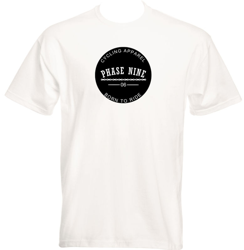 PHASE9 - BORN TO RIDE - MEN'S T-SHIRT - WHITE - product images