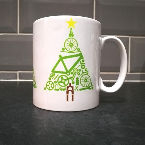 PHASE9,CHRISTMAS,TREE,-,MUG,Mug, Cycling Mug, Cycling, MTB, Road Cycling Mug, Cycling souvenirs, Phase9, Phasenine, Xmas, Christmas