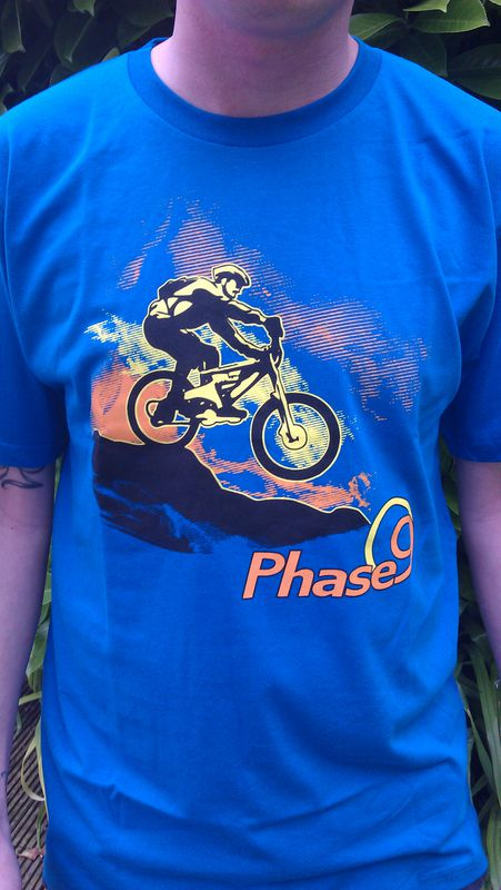 PHASE9 - BIKE - MEN'S ORGANIC T-SHIRT - BRIGHT BLUE - product images  of