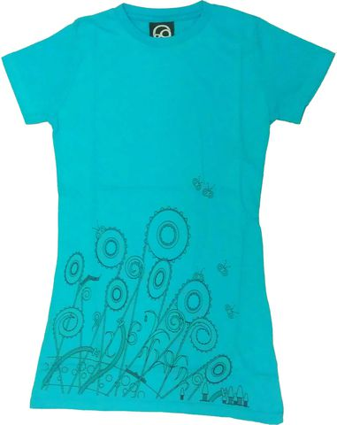 Flowers,Organic,T-Shirt,Phase9 Clothing, Cycling, Apparel, Clothing, Women's, MTB, Biking, Snowboarding, Perfomance, T-shirt, Tshirt