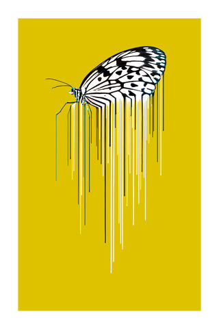 Butterfly,Ochre,Art, Print, Animals, Butterfly, Ochre, yellow, drips, urban, splash, flight, paint, painterly, affordable art, limited edition, art, print, art prints, signed edition
