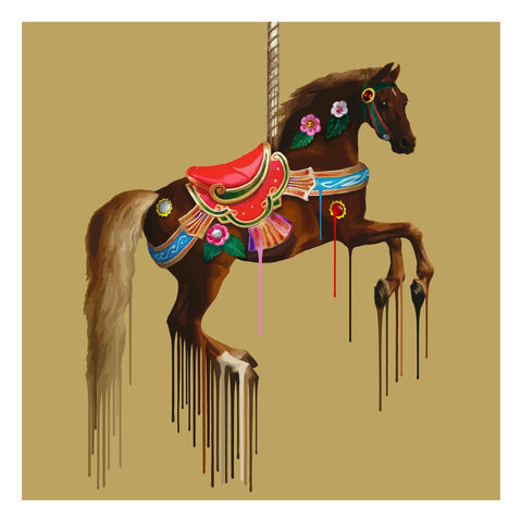 Le,Whistle,Prancer,fineprint, limited edition, art edition, animal print, artwork, london art, animal art, carousel art