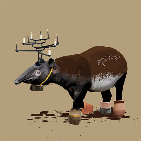 The,Tapir,Who,Wanted,to,be,a,Moose,Limited edition print of The Tapir Who Wanted to be a Moose by Carl Moore