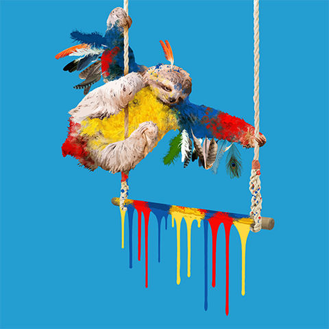 The,Sloth,Who,Wanted,to,be,a,Parrot,Limited edition print of The Sloth Who Wanted to be a Parrot by Carl Moore