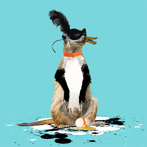 The,Meerkat,Who,Wanted,to,be,a,Penguin,Limited edition print of The Meerkat Who Wanted to be a Penguin by Carl Moore