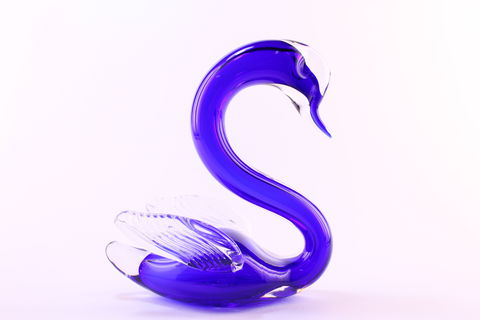 Blue,Winged,Swan,Cobalt Blue Glass, Blue Swan, Blue Winged Swan, Blue Glass, Blue Glassware,  Cobalt Blue,