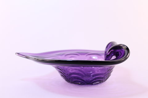 Purple,Heart,Dish,Purple Glass, Purple Glassware, Glass Dish, Heart Dish, Hand blown Glass, Art Glass