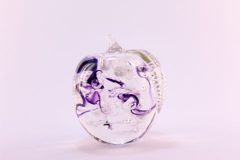 Purple,Nouveau,Apple,-,Leaf,Down,Amethyst Glass, Apple, Purple Apple, Purple Glass