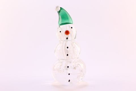 Nouveau,Snowman,with,a,Green,Santa,Hat,Green Santa Hat, Snowman, Nouveau Snowman