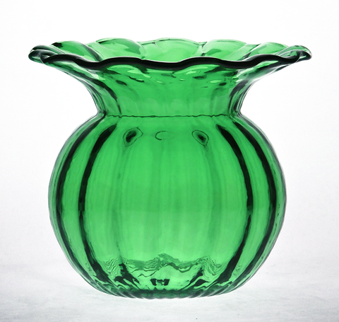 Green,Low,Rose,Vase,Green Glass, Green Glassware, Glass Bowl, Low Rose Bowl, Hand blown Glass, Art Glass