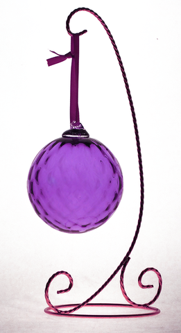 Purple,Decorative,Diamond,Ball,Purple Glass, Purple Glassware, Glass Ornament, Glass Ball, Diamond Ornament Ball, Hand blown Glass, Art Glass