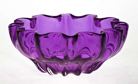 Purple,Mini,Ruffled,Bowl,Purple Glass, Purple Glassware, Glass Bowl, Ruffled Mini Bowl, Hand blown Glass, Art Glass