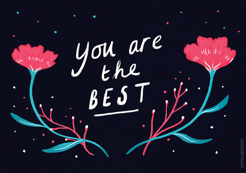 You Are The Best! - Mother's Day / Easter / Thank You Greeting Card - product images  of