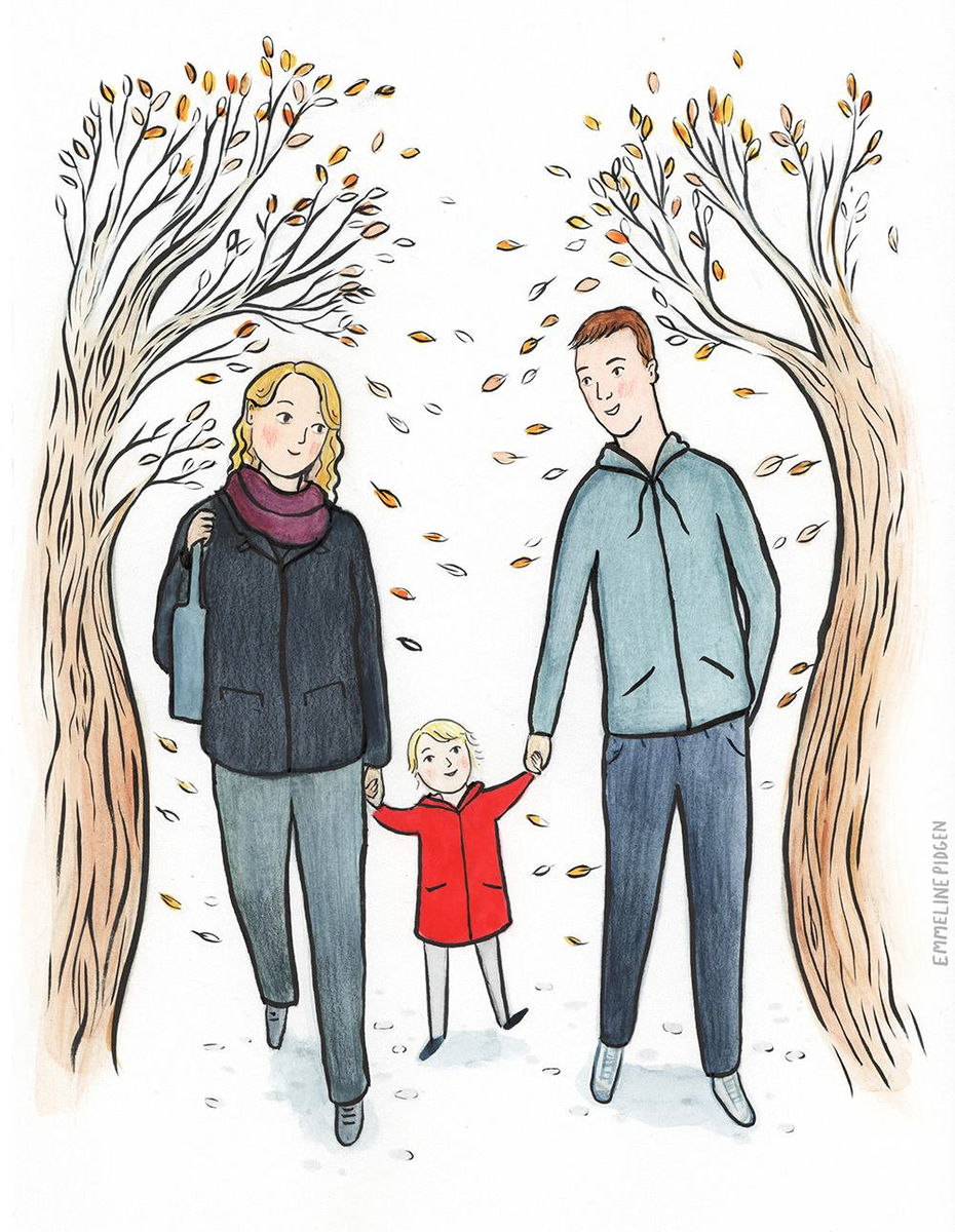 Bespoke Family Portrait - Original Watercolour or Digital Portrait Illustration for Mother's Day, Father's Day, or a special gift! - product images  of