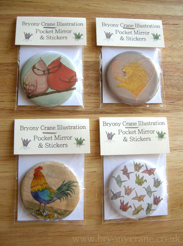 Two Birds Pocket Mirror and Stickers Pack - product image