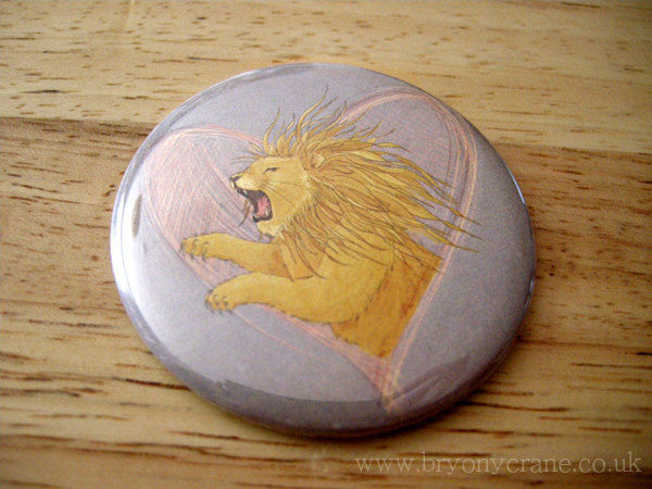 Lion Pocket Mirror and Stickers Pack - product image