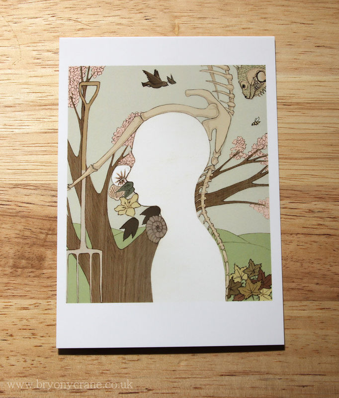 Illustrated Art Postcard Print - Niche In Nature - product image