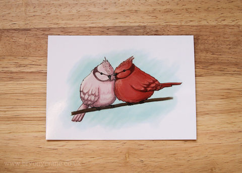Pink,Red,and,Blue,-,Two,Birds,Illustration,Art,Postcard,Print,illustrated_cards,cards,illustration,postcard,illustrated_postcard,postcard_print,two_birds,love_birds,regina_spektor,art_postcard,red,blue,pink,card,350gsm_paper_stock