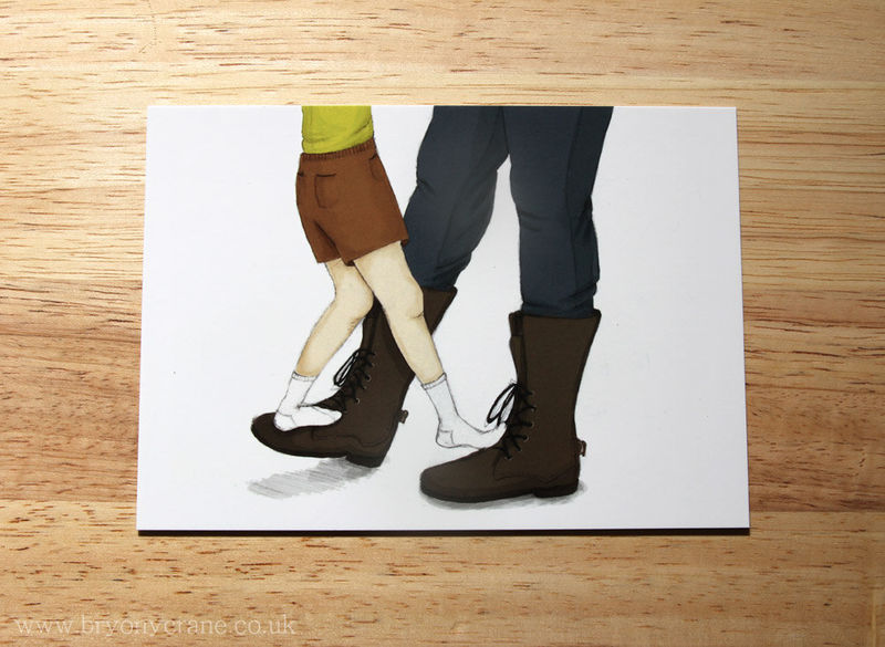 My Papa's Waltz Postcard Print - product images