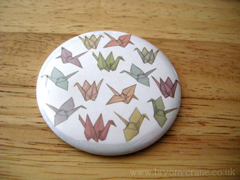 Origami,Cranes,Mirror,and,Stickers,Pack,Accessories,Animal,pocket_mirror,mirror,small_mirror,illustrated_mirror,illustration,gift,stickers,bird_stickers,origami,origami_cranes,origami_crane,origami_illustration,crane,cellophane_and_card_packaging,badge_mirror